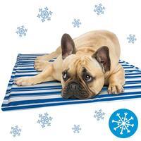 Schecker Kühl-Matten für Hunde - gestreift -