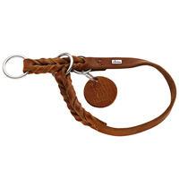 Hunter Solid Education Halsband, Farbe: Cognac