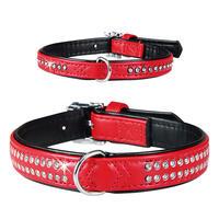 Schecker Society Halsbänder, Farbe: Rot