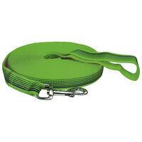 Schlauchgurt-Nylon Horizon Schleppleine mit Handschlaufe, Farbe: Grün