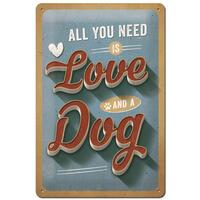 Nostalgic-Art Schild Love Dog