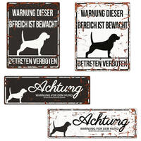 Warnschild Beagle
