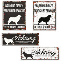 Warnschild Collie